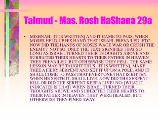 Talmud - Mas. Rosh HaShana 29a