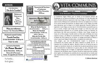 Bolet n Parroquial                Diciembre 2012                  A o de la fe  2                   No.21