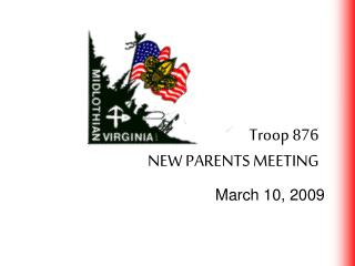 Troop 876 NEW PARENTS MEETING