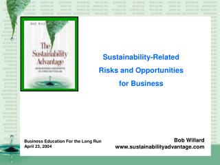 Sustainability-Related Risks and Opportunities  for Business