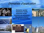 Domaines d application