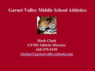 Garnet Valley Middle School Athletics