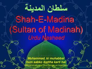 Shah-E-Madina  Sultan of Madinah Urdu Nasheed