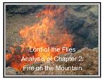 Lord of the Flies Analysis of Chapter 2:  Fire on the Mountain