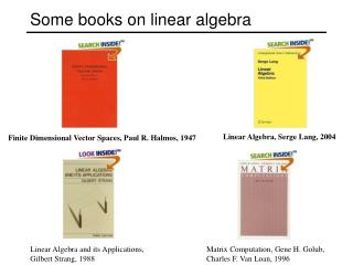 Some books on linear algebra