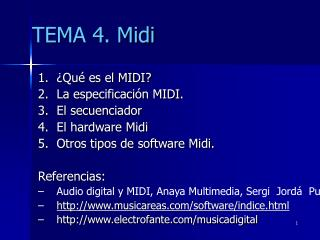 TEMA 4. Midi