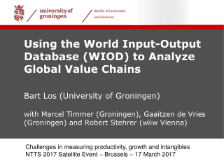 World Input-Output Database WIOD: Construction, Challenges and Application
