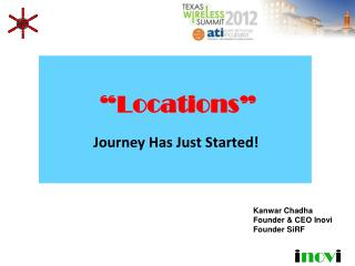 Locations   Journey Has Just Started