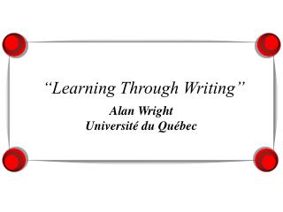 Learning Through Writing