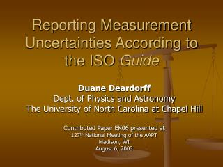 Reporting Measurement Uncertainties According to the ISO Guide