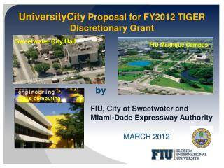 UniversityCity Proposal for FY2012 TIGER Discretionary Grant