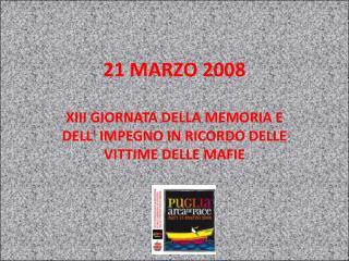 21 MARZO 2008