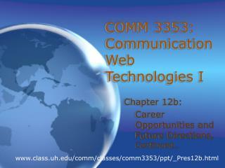 COMM 3353: Communication Web Technologies I