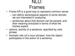 NLU: Frames
