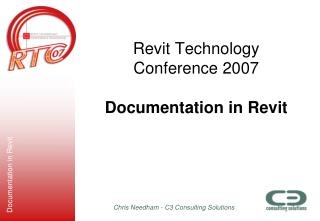 Revit Technology Conference 2007  Documentation in Revit