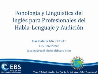 Fonolog a y Ling  stica del Ingl s para Profesionales del Habla-Lenguaje y Audici n