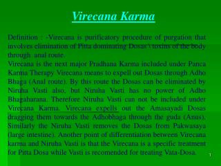 Virecana Karma