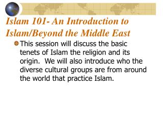 Islam 101- An Introduction to Islam