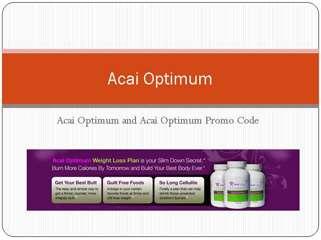 Acai Optimum Promo Code | Acai Optimum