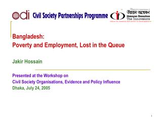 Poverty and Employment in Bangladesh PRSP