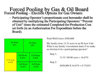 Forced Pooling by Gas  Oil Board