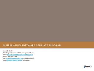 BluePenguin Software Affiliate Program