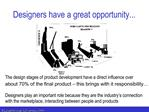 Designers have a great opportunity...