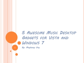 Awesome Music Desktop Gadget