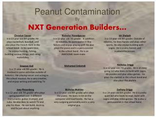 Peanut Contamination  By