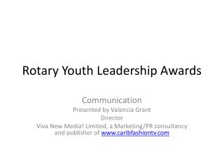 Rotary Youth Leadership Awards