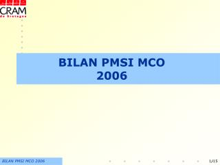 BILAN PMSI MCO 2006
