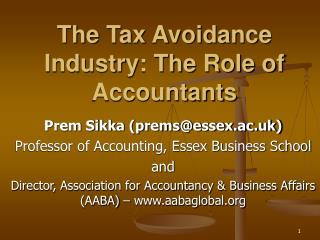 The Tax Avoidance Industry: The Role of Accountants