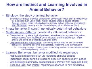 How are Instinct and Learning Involved in Animal Behavior