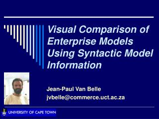 Visual Comparison of Enterprise Models Using Syntactic Model Information