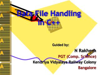 Data File Handling  in C