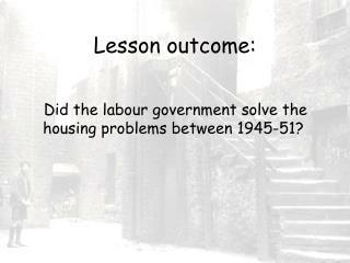 Lesson outcome: