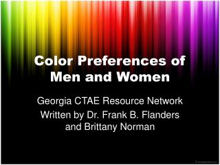 Color Preferences of Men and Women