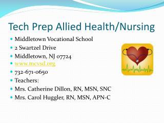 Tech Prep Allied Health
