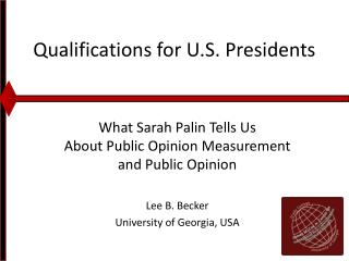 Qualifications for U.S. Presidents