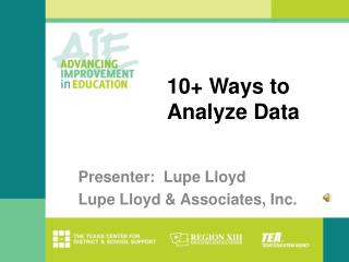 10 Ways to Analyze Data