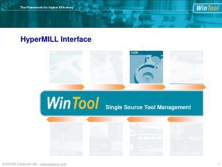 HyperMILL Interface