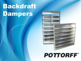 Backdraft Dampers