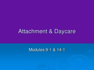 Attachment  Daycare