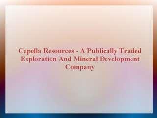 Capella Resources Ltd.