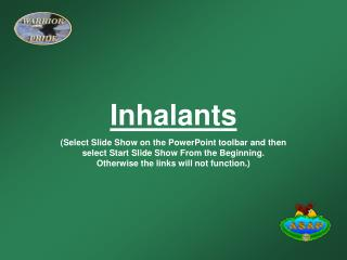 Inhalants Select Slide Show on the PowerPoint toolbar and then select Start Slide Show From the Beginning.  Otherwise th