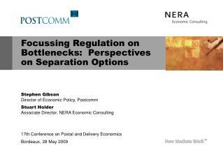 Focussing Regulation on Bottlenecks:  Perspectives on Separation Options