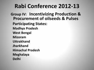 Rabi Conference 2012-13
