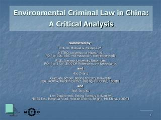 Environmental Criminal Law in China: A Critical Analysis