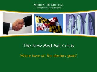 The New Med Mal Crisis