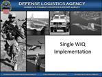 Single WIQ Implementation